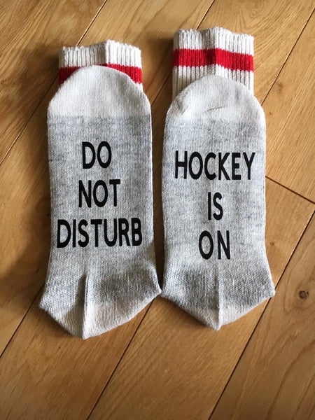 Do not disturb Hockey is on socks
