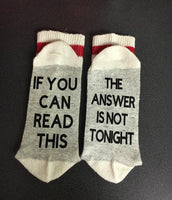 The answer is not tonight socks