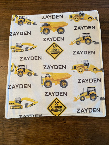 Construction zone custom name blanket