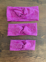 Fuchsia bursts twist headband
