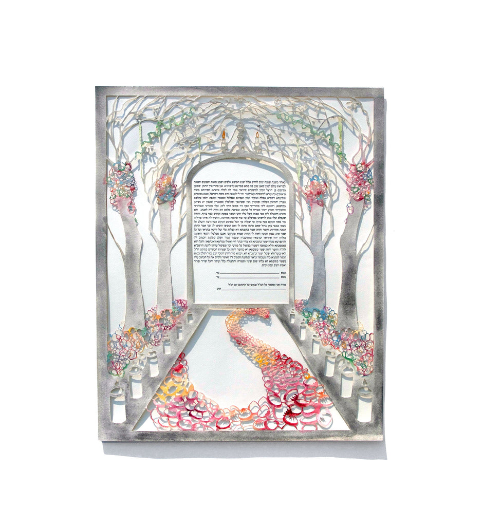 Wonderland Aisle - Custom Watercolor Painted Ketubah
