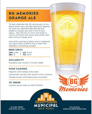 BG Memories Orange Ale