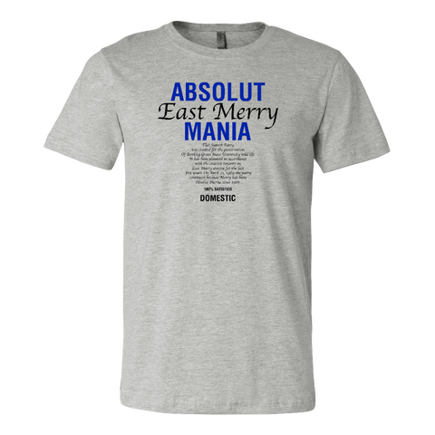 Bowling Green East Merry Mania 1989 Blue-Text T-Shirt