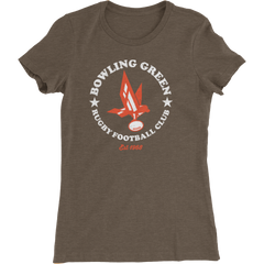 Bowling Green Rugby Logo Ladies Slim Fit T-Shirt
