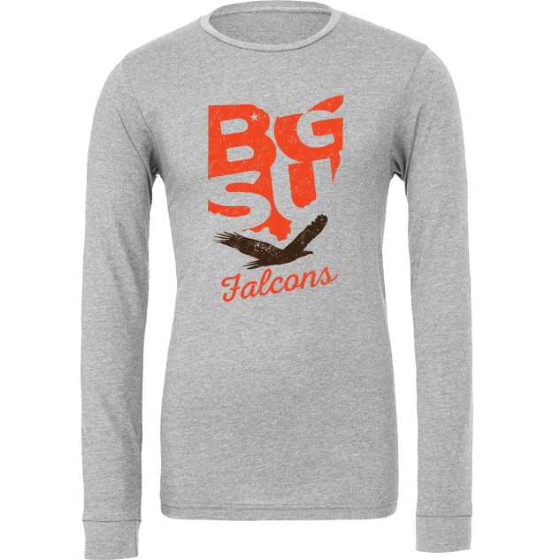 BGSU Falcons State Pride Long Sleeve T-Shirt