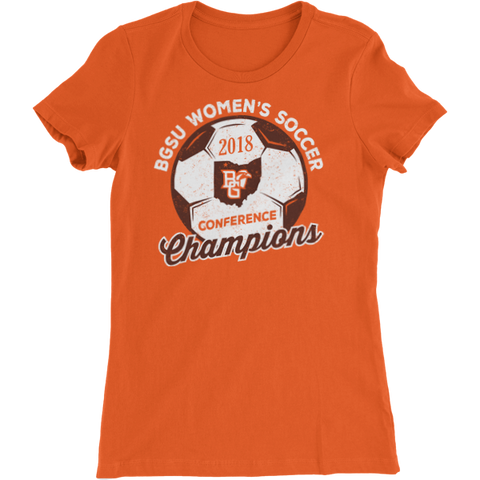 BGSU Falcons Women's Soccer MAC Champs Ladies Slim Fit T-Shirt