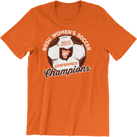 BGSU Falcons Women's Soccer 2018 MAC Champs T-Shirt