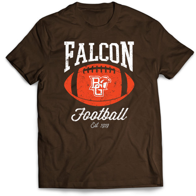 BGSU Falcon Football Pigskin T-Shirt