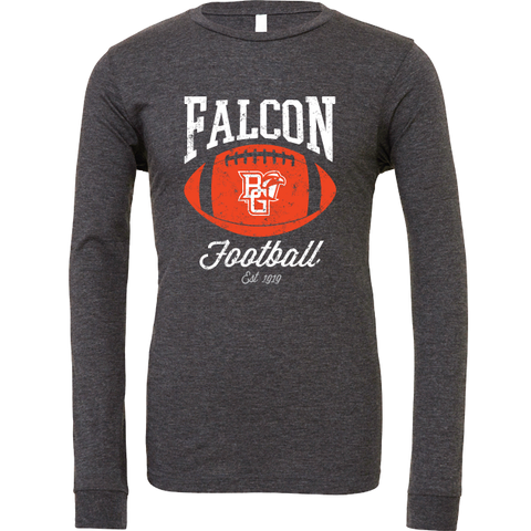 BGSU Falcon Football Pigskin Long Sleeve T-Shirt
