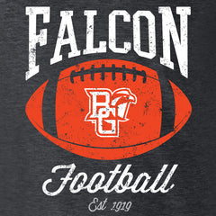 BGSU Falcon Football Pigskin Slim Fit Ladies T-Shirt