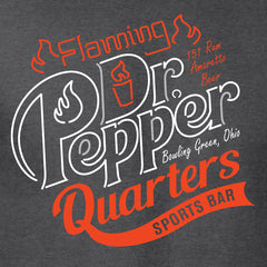 Flaming Dr. Pepper Campus Quarters T-shirt