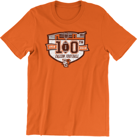 BGSU Falcons Football 100th Year Commemorative T-Shirt