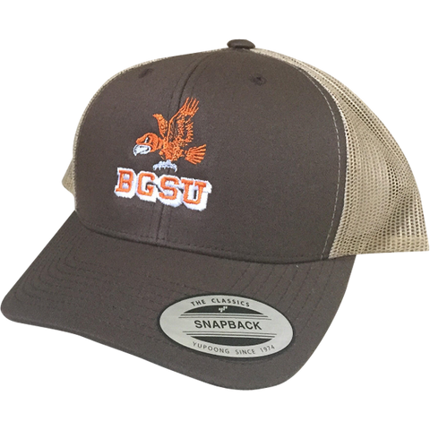 BGSU Falcons Embroidered Vintage Snapback Hat