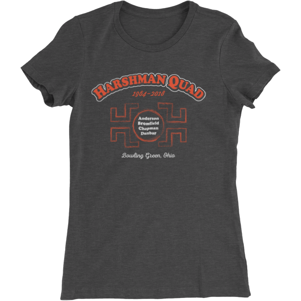 BGSU Harshman Quad Ladies Slim Cut T-Shirt