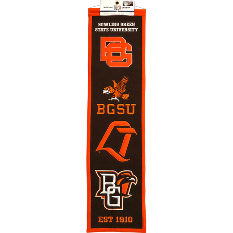 BGSU Falcons Vintage Logos Heritage Banner (By Request - EXCLUSIVE ITEM)