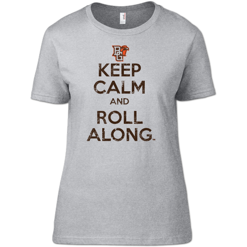 BGSU Keep Calm & Roll Along Woman's T-Shirt