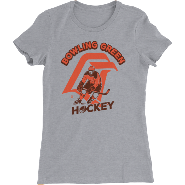 BGSU Hockey Vintage Logo Ladies Slim Fit T-Shirt
