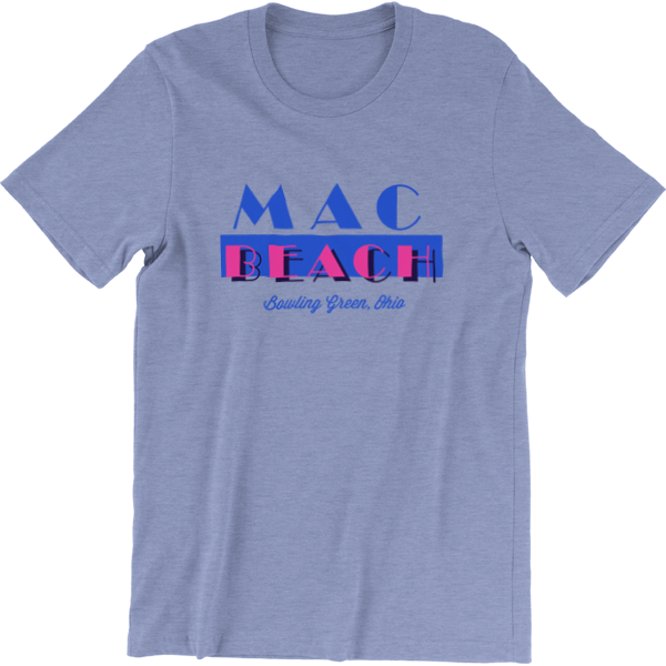 Bowling Green Ohio MAC Beach T-Shirt