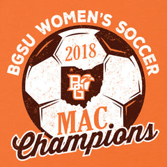 BGSU Falcons Women's Soccer MAC Champs Ladies Slim Fit T-Shirt - TEAM / F&F ONLY