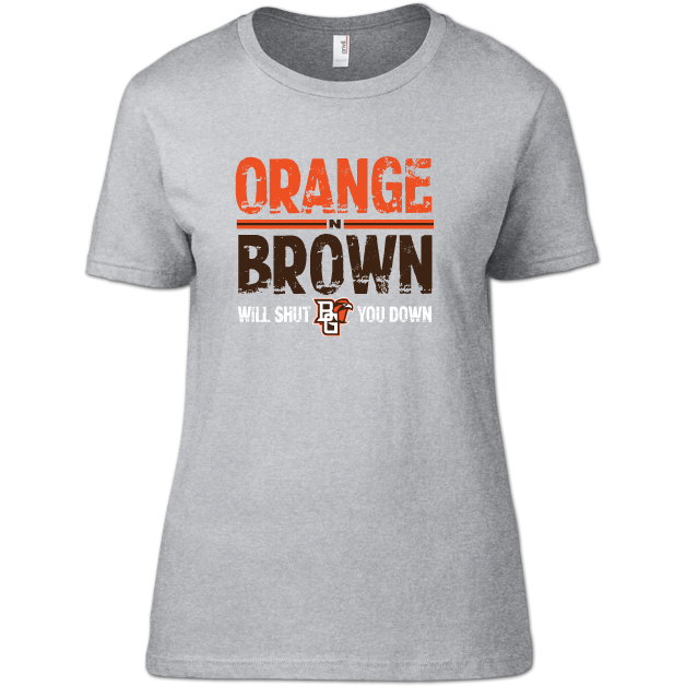BGSU Orange N Brown Woman's T-Shirt