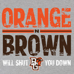 BGSU Orange and Brown T-Shirt