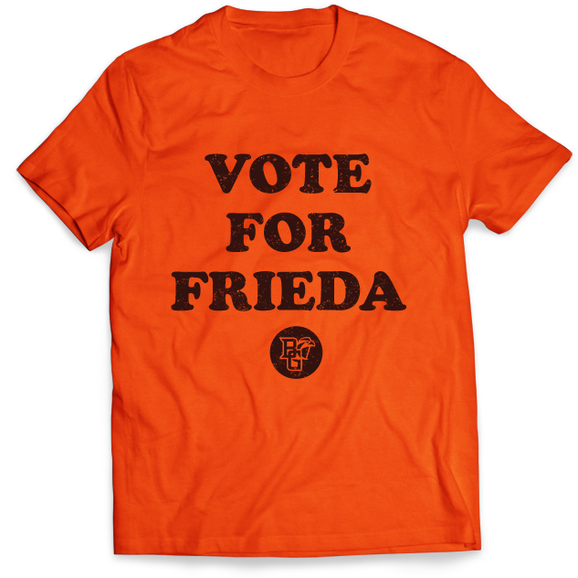 BGSU Falcons Vote for Frieda T-Shirt