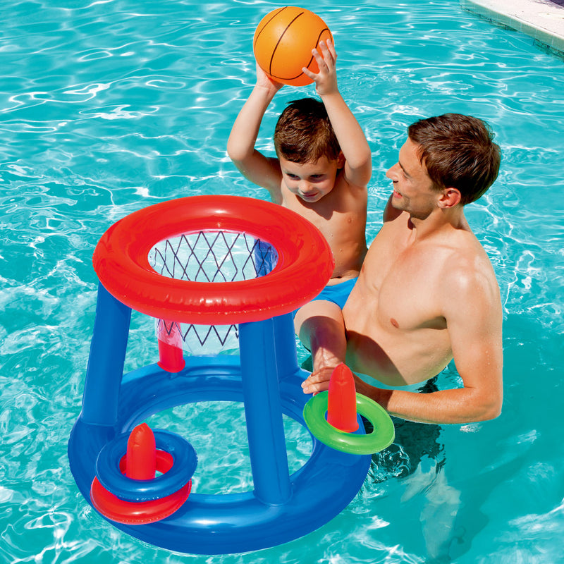 Bestway Game Float Kool Pool Pool Dunk Inflatable Basketball Hoop Set Pool Toy