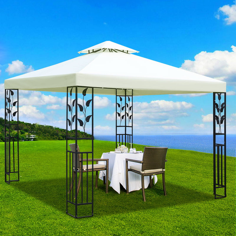 Instahut Gazebo 3x3m Marquee Outdoor Party Wedding Gazebos Tent Iron Art