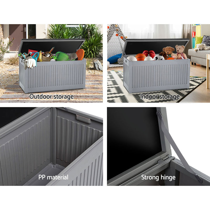 Gardeon Outdoor Storage Box Container Garden Toy Tool Sheds 270L