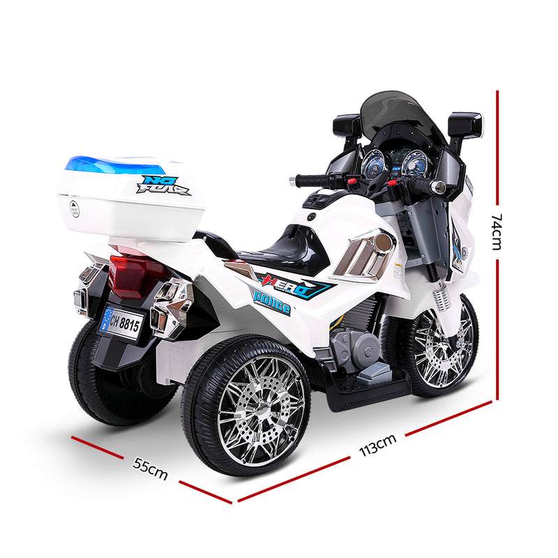 Rigo Kids Ride On Motorbike Motorcycle Car White