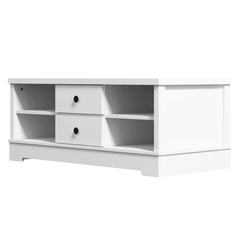 Margaux White Coastal Style Coffee Table with Drawers
