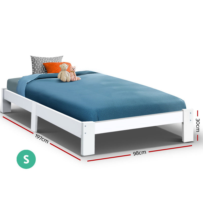 Artiss Bed Frame Single Wooden Bed Base Frame Size JADE Timber Mattress Platform
