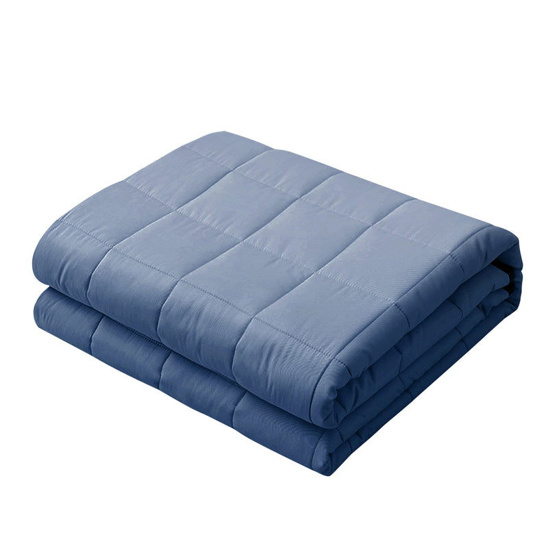 Giselle Weighted Blanket Adult 9KG Heavy Gravity Cooling Blankets Summer Blue