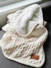 Presidio Cable Knit Faux Lambswool Blanket