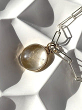 Load image into Gallery viewer, Golden Rutile Rock Crystal Pendant with Paperclip Toggle Chain