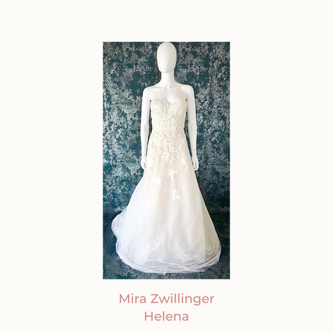 Mira Zwillinger helena gown, modified a-line