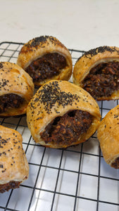 Mini Beef Sausage Rolls (6 packs)