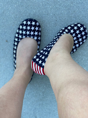 Stars & Stripes Suede Flats
