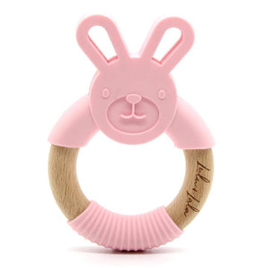 Rhyan Rabbit Teether -Pink