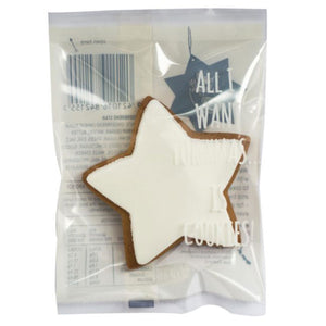 White Iced Gingerbread Star