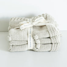 Load image into Gallery viewer, Bianca Lorenne Knitted Washcloth - Oatmeal