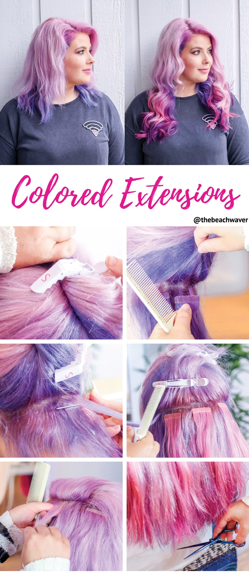 How To Colored Hair Extensions The Beachwaver Co