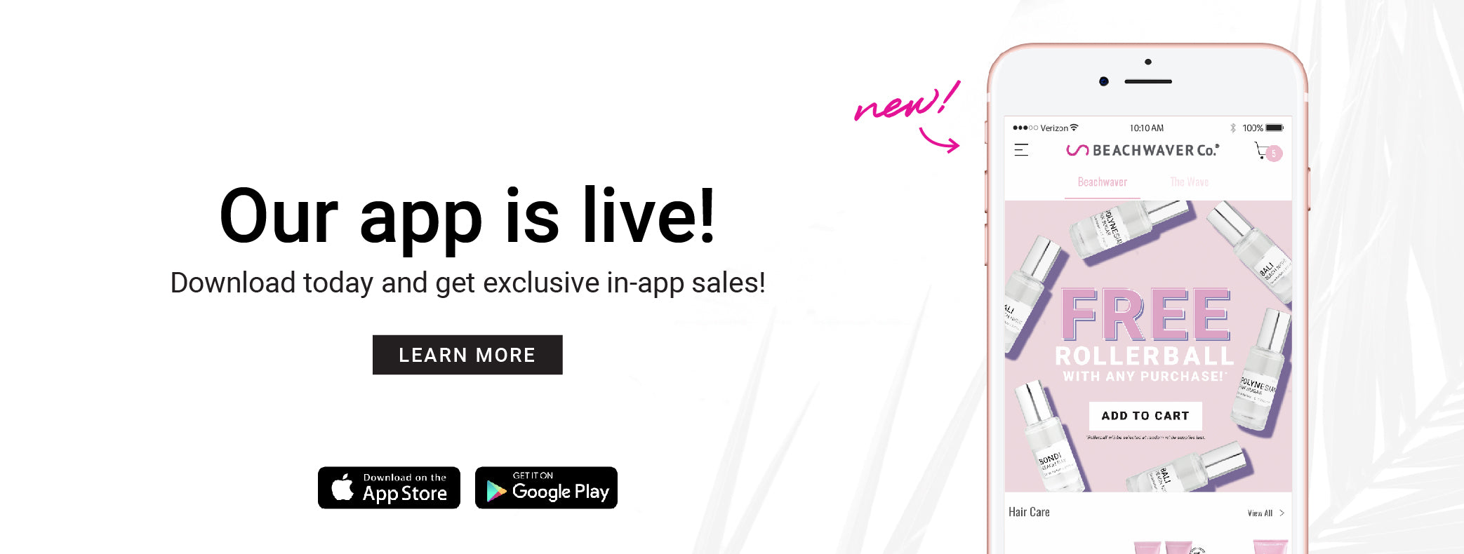 Download our app for exclusive sales!