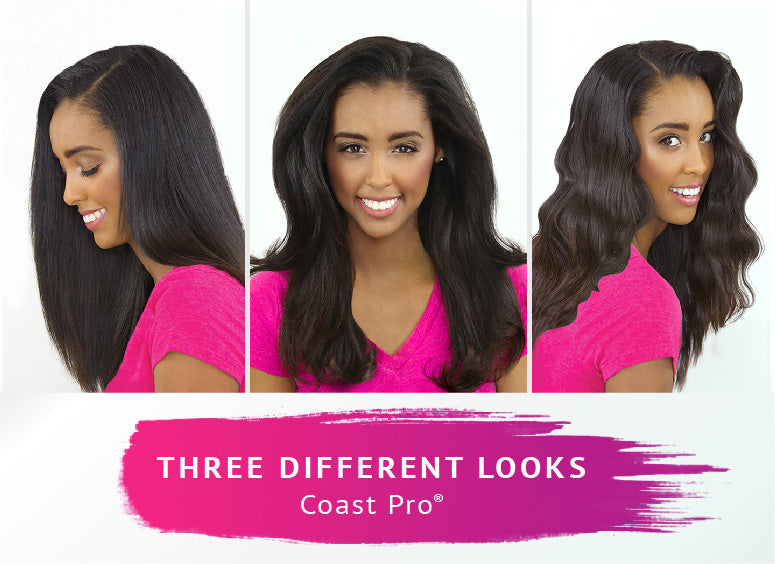 Get three different looks with the Coast Pro Professional Iron