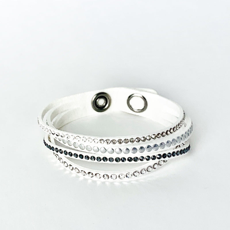 Alcantara Swarovski Bracelet 4 Strand - The Beachwaver Co.