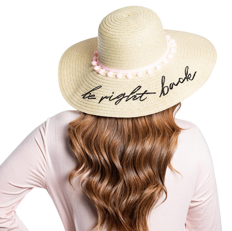 Be Right Back Beach Hat - The Beachwaver Co.