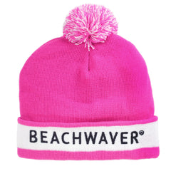 The Beachwaver Pom Beanie Hat is perfect for cold winter days.
