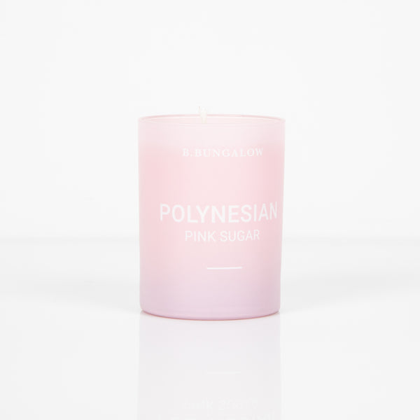 Polynesian Pink Sugar Candle - The Beachwaver Co.