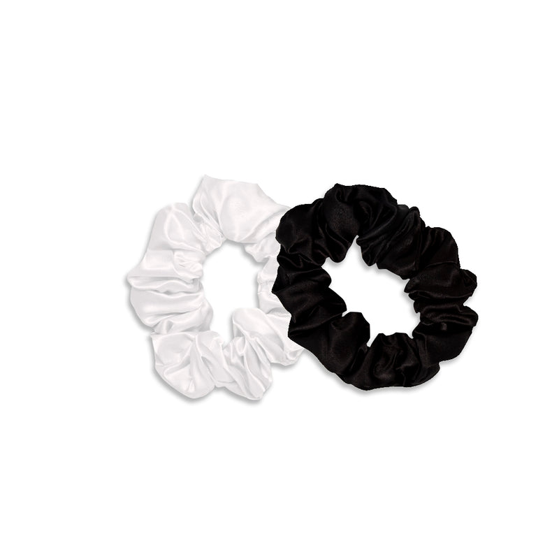 Scrunchie Set (Black and White) - The Beachwaver Co.