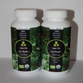 Twin Pack Organic Moringa Tablets x2 (Great for Nutrition)
